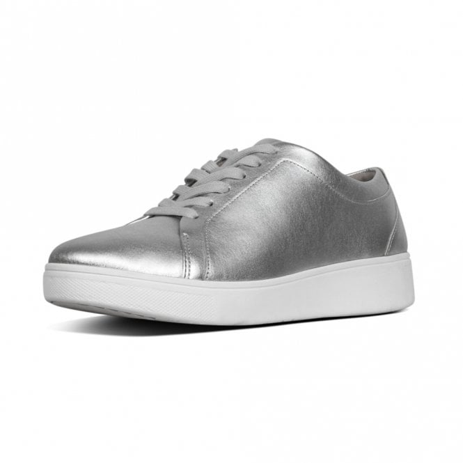 FitFlop Rally™ Leather Sneakers in Silver