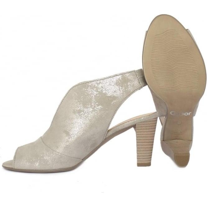 3f03d7e4e05 Gabor Range Women's Modern High Cut Mid Heel Sandals in Metallic