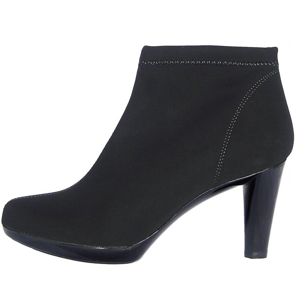 nr rapisardi modern high heel stretch nkle boots in