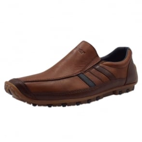 abfbcc7c401 08972-25 Garrit Mens Smart Casual Slip On Shoes in Brown