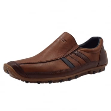 08972-25 Garrit Mens Smart Casual Slip On Shoes in Brown