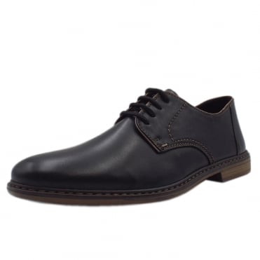 13422-01 Clarence Mens Smart-Casual Shoe in Black Leather