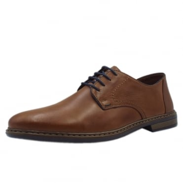 13422-25 Clarence Mens Smart-Casual Shoe in Light Brown Leather