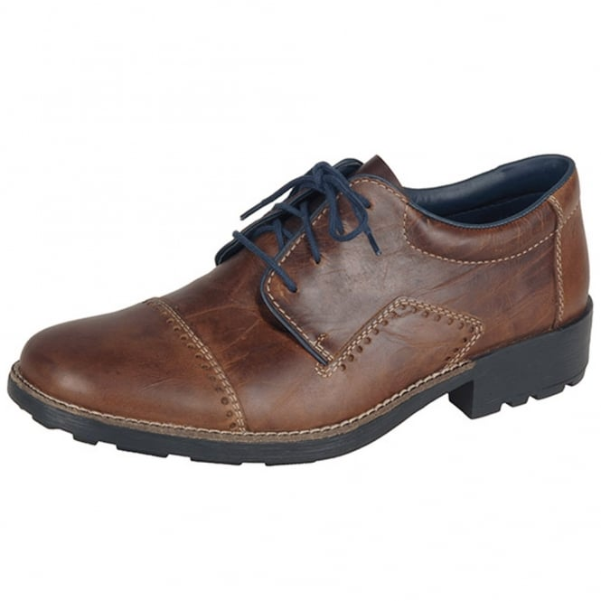 Rieker 16002-26 Mustang Men's Casual Lace Up Shoes in Brown