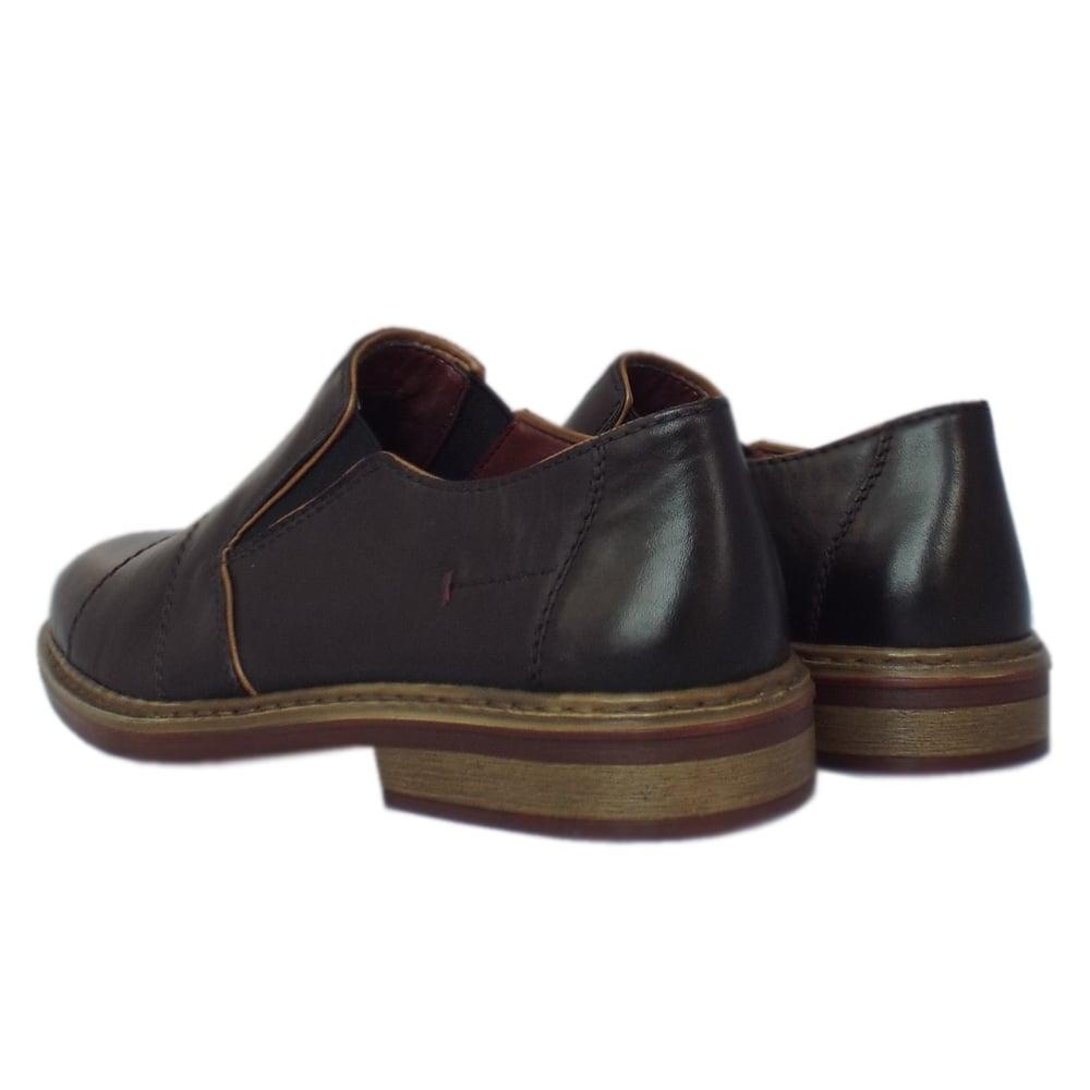 31f121e379f 17661-00 Cavalery Mens Smart-Casual Slip On Shoe in Black Leather