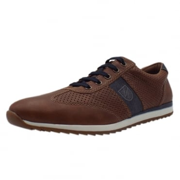 19325-25 Anthony Mens Smart Casual Lace-up Shoes in Light Brown