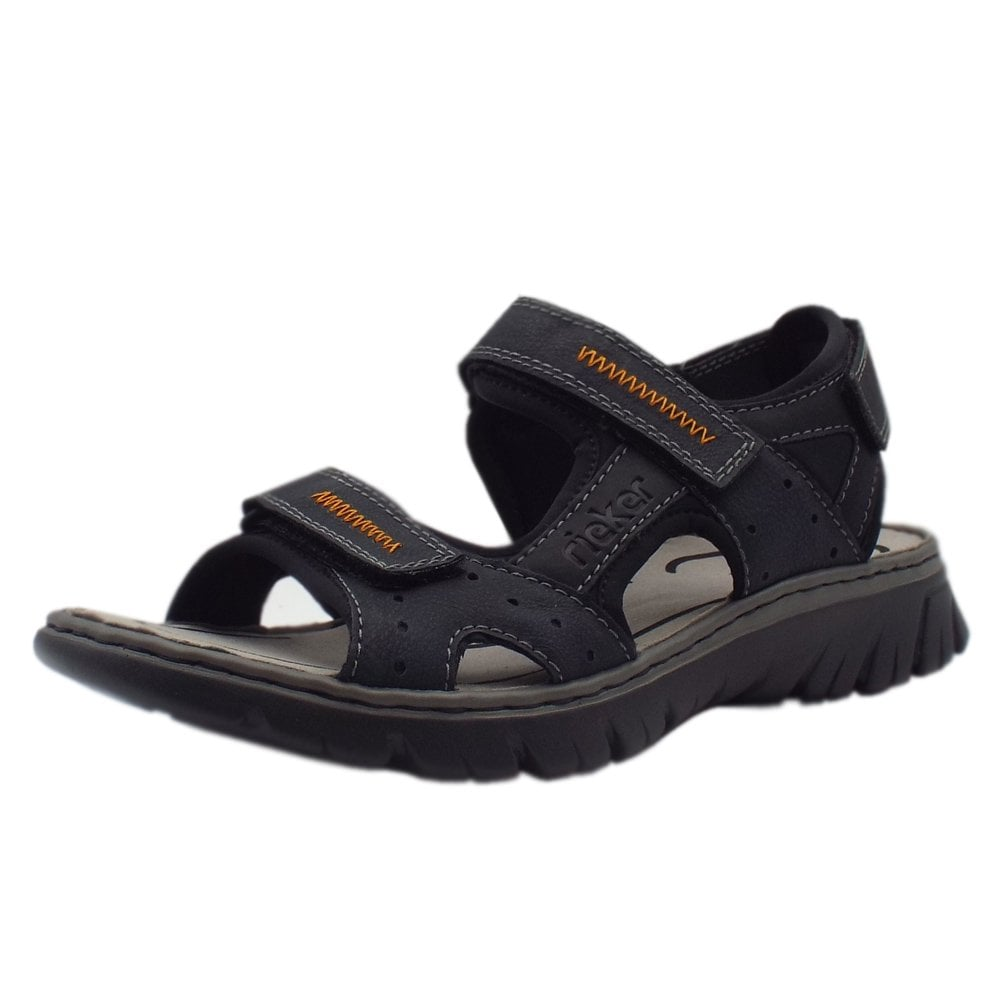 d25ccf00ddf Rieker Sandals | Basque Mens Sport Sandal in Navy | Mozimo