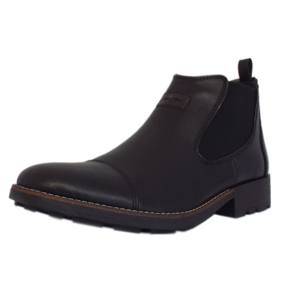 36063-00 Luther Men  039 s Winter Pull On Chelsea Boots in Black 8e3ee131a585