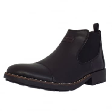 36063-00 Luther Men's Winter Pull On Chelsea Boots in Black