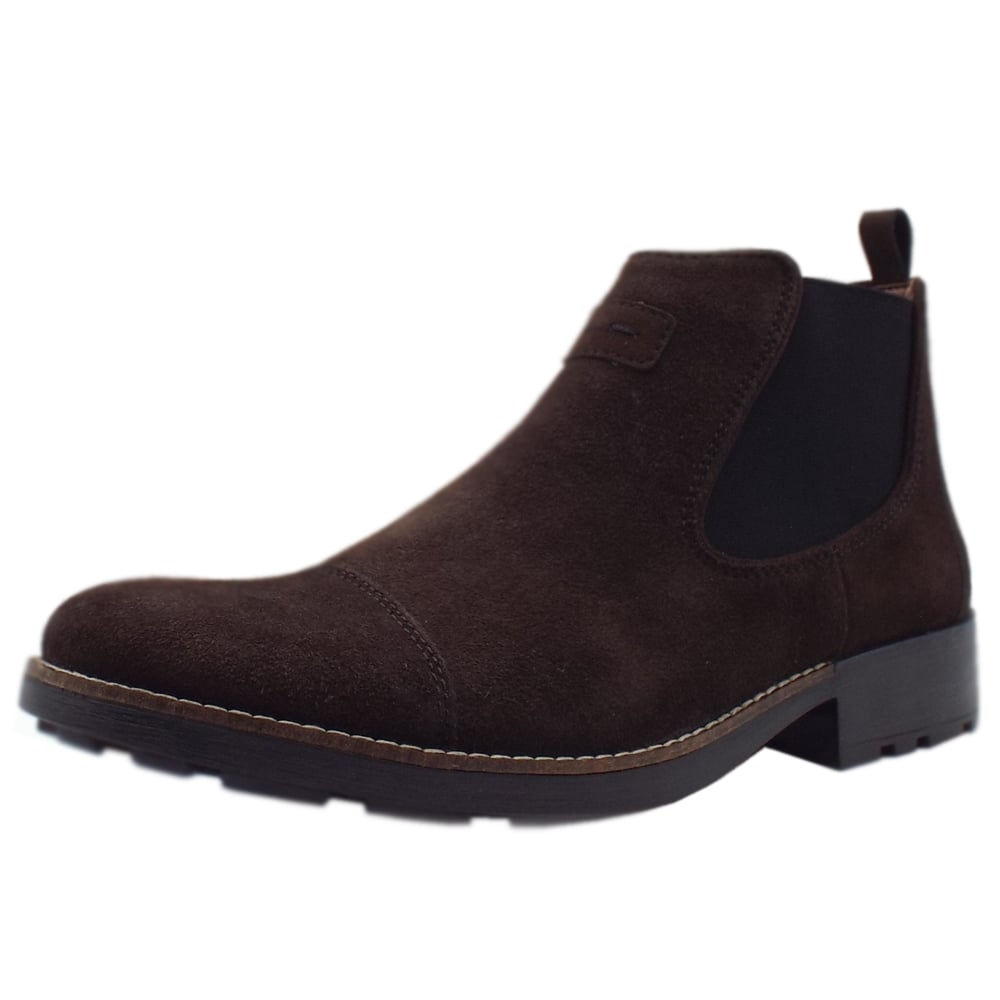 various colors great quality factory authentic 36063-26 Luther Men's Winter Pull On Chelsea Boots in Brown Suede