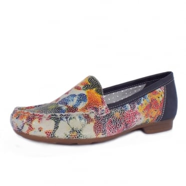 40089-91 Phoebe Breathable Loafers in Multicolour Floral Leather