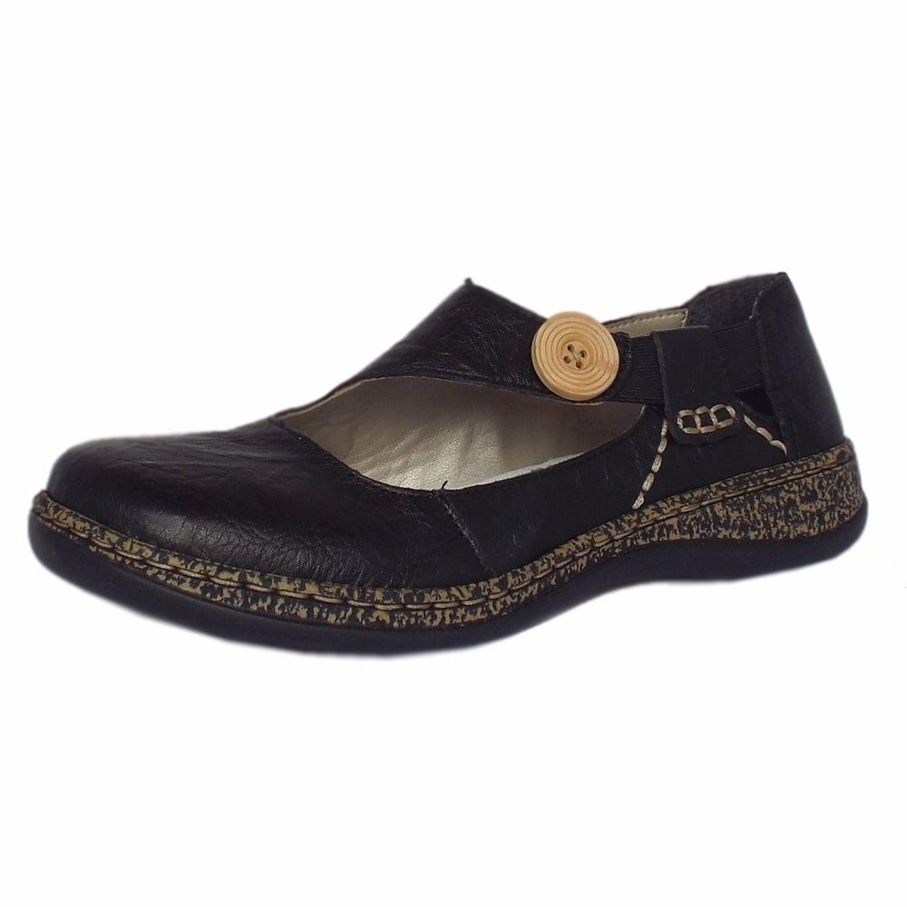 Rieker Shoes | Delight Black Leather