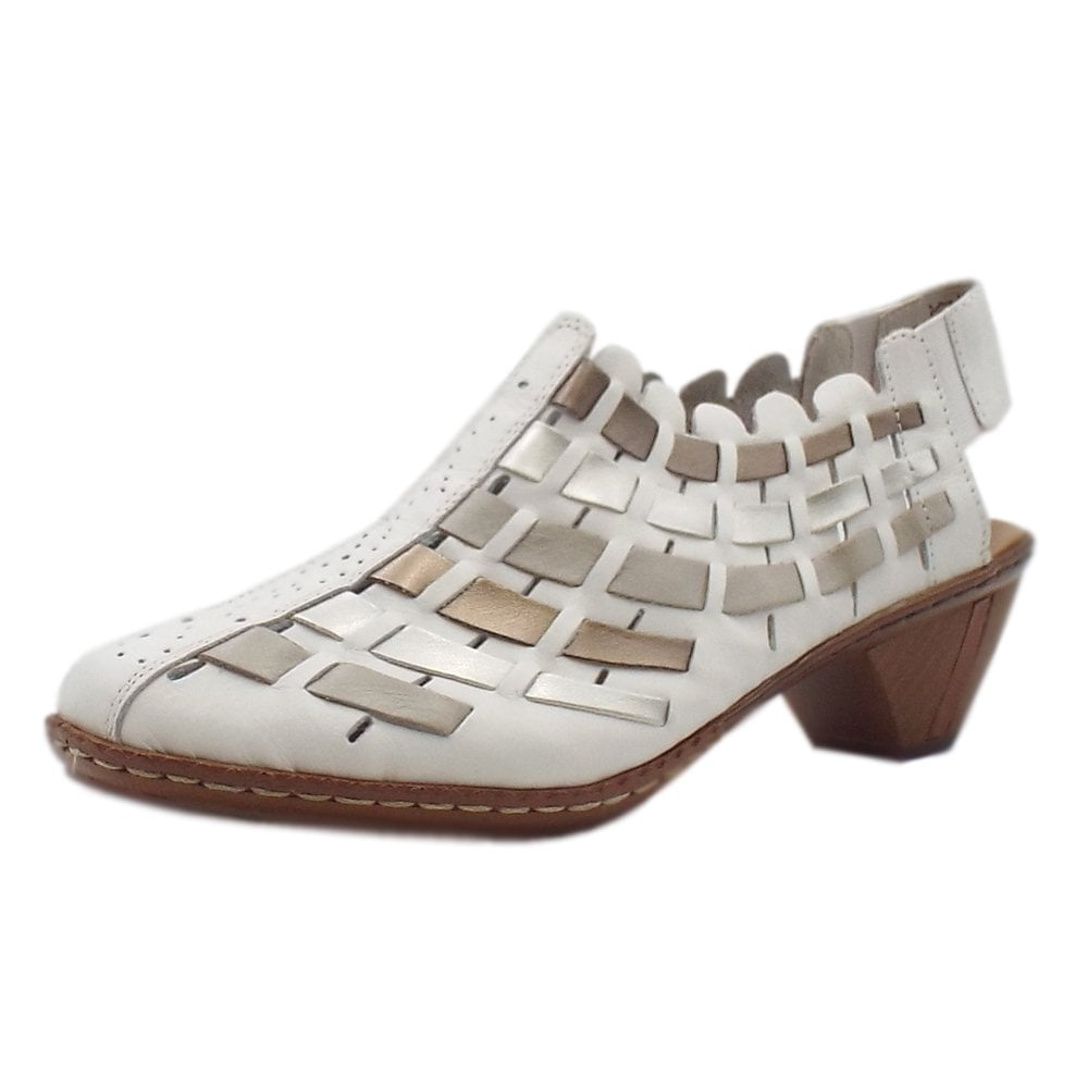 9951518b2dc 46778-81 Valentine Casual Low Heel Slingback Shoe in White