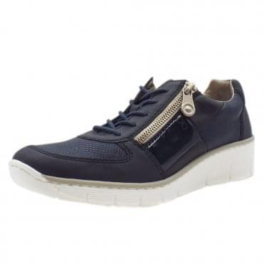 53714-14 Micah Smart Casual Lace-Up Trainers In Navy