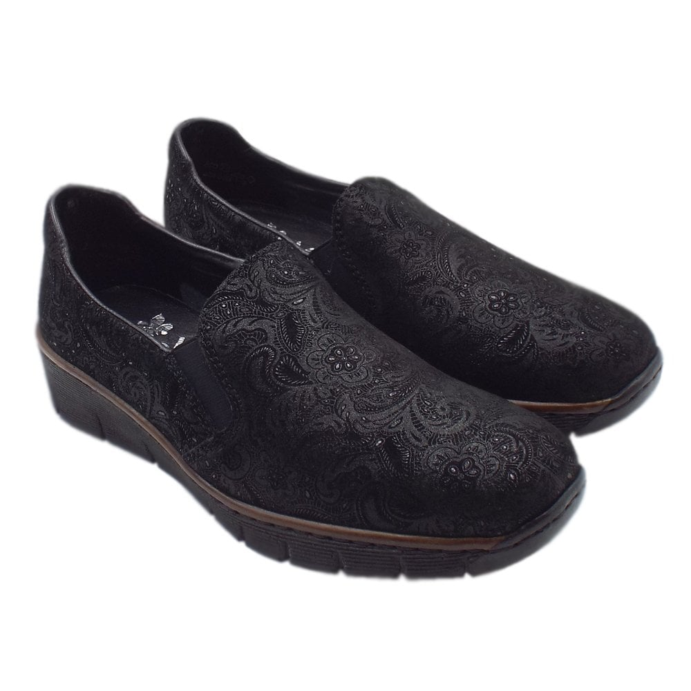 53766 Winter Black Nobles In 05 Rieker Stylish Loafers PkTwiOXZu