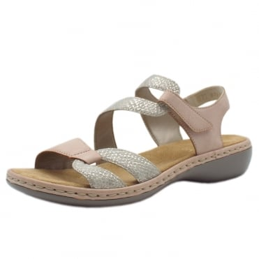 65969-81 Sussex Comfortable Fashion Sandals in Rose