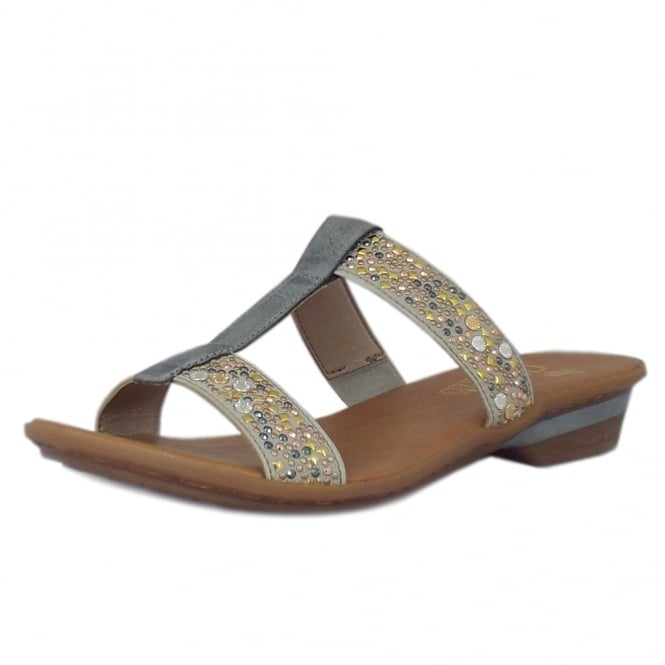 Rieker Alana Dressy 'T' Bar Sandals in Grey