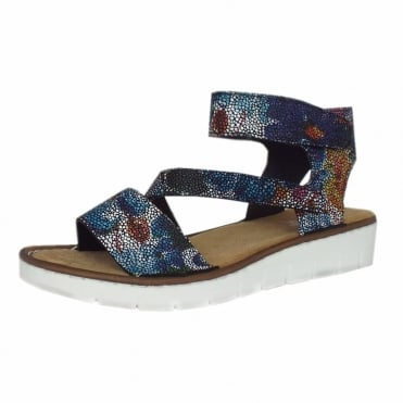 Anabelle Multi-colour Ankle strap velcro sandals
