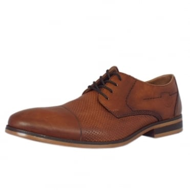 Antonio Men's Smart Casual Lace-Up Shoes In Tan Leather