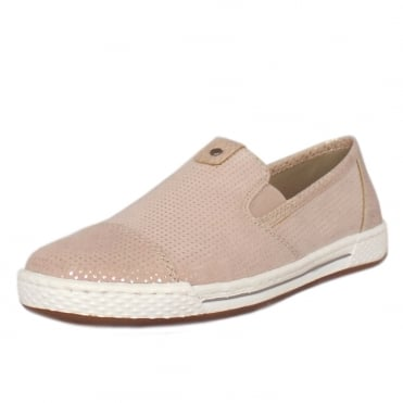Aristocrat Casual Slip On Trainer Pumps in Rose