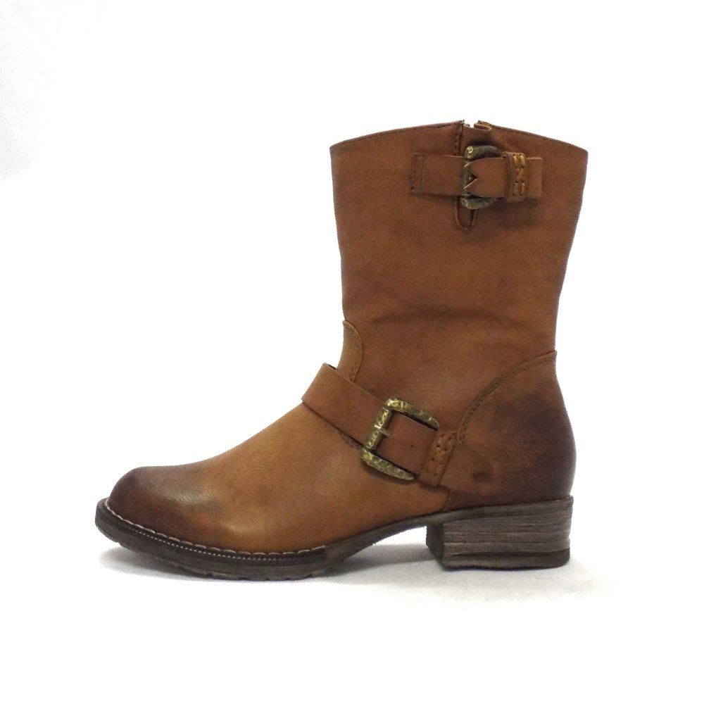 Rieker Aruba Ladies Tan Ankle Boots With Fleece Lining
