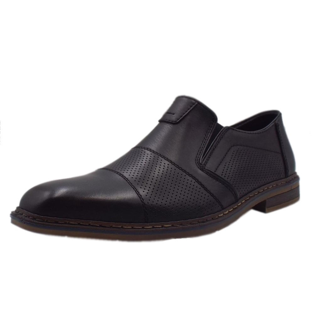 97490409c0380 Rieker B1765-00 Hemmingway| Men's Smart Shoe in Black Leather | Mozimo