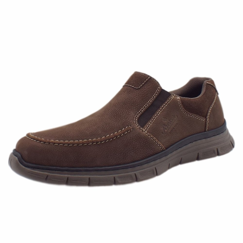 ca23543d12d B4869-25 Trooper Mens Comfortable Loafers in Brown
