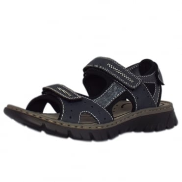 Basque Mens Sport Walking Sandals in Blue