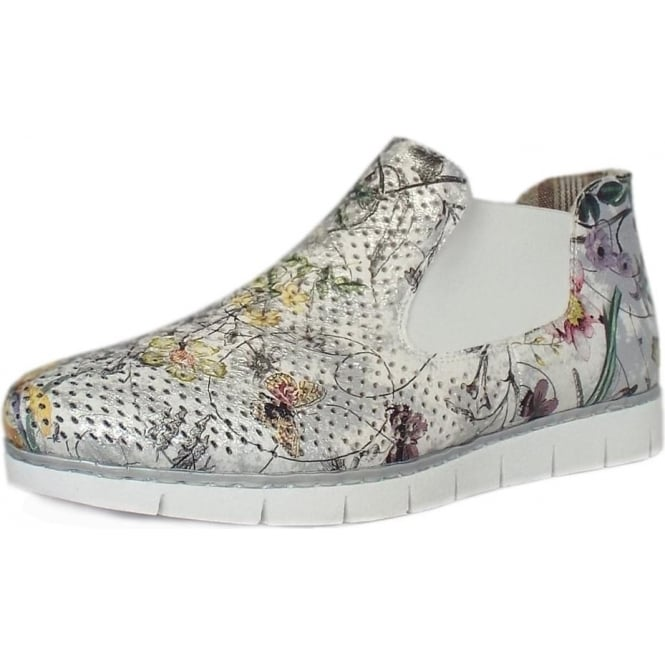 Rieker Bouquet Casual Slip on High Top in Ice
