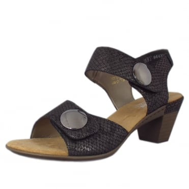 Rieker Bravo Smart Casual Fashion Sandals In Grey