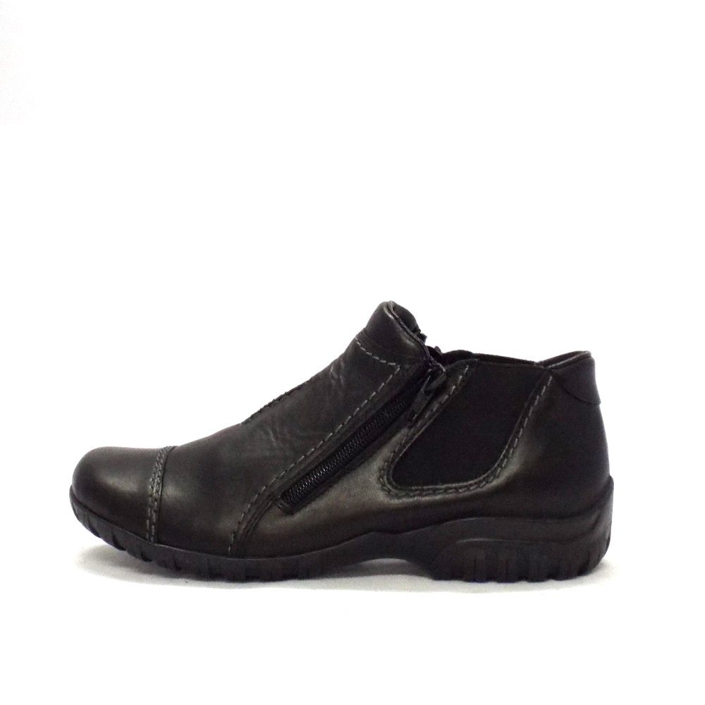 rieker bumble black leather casual width fit
