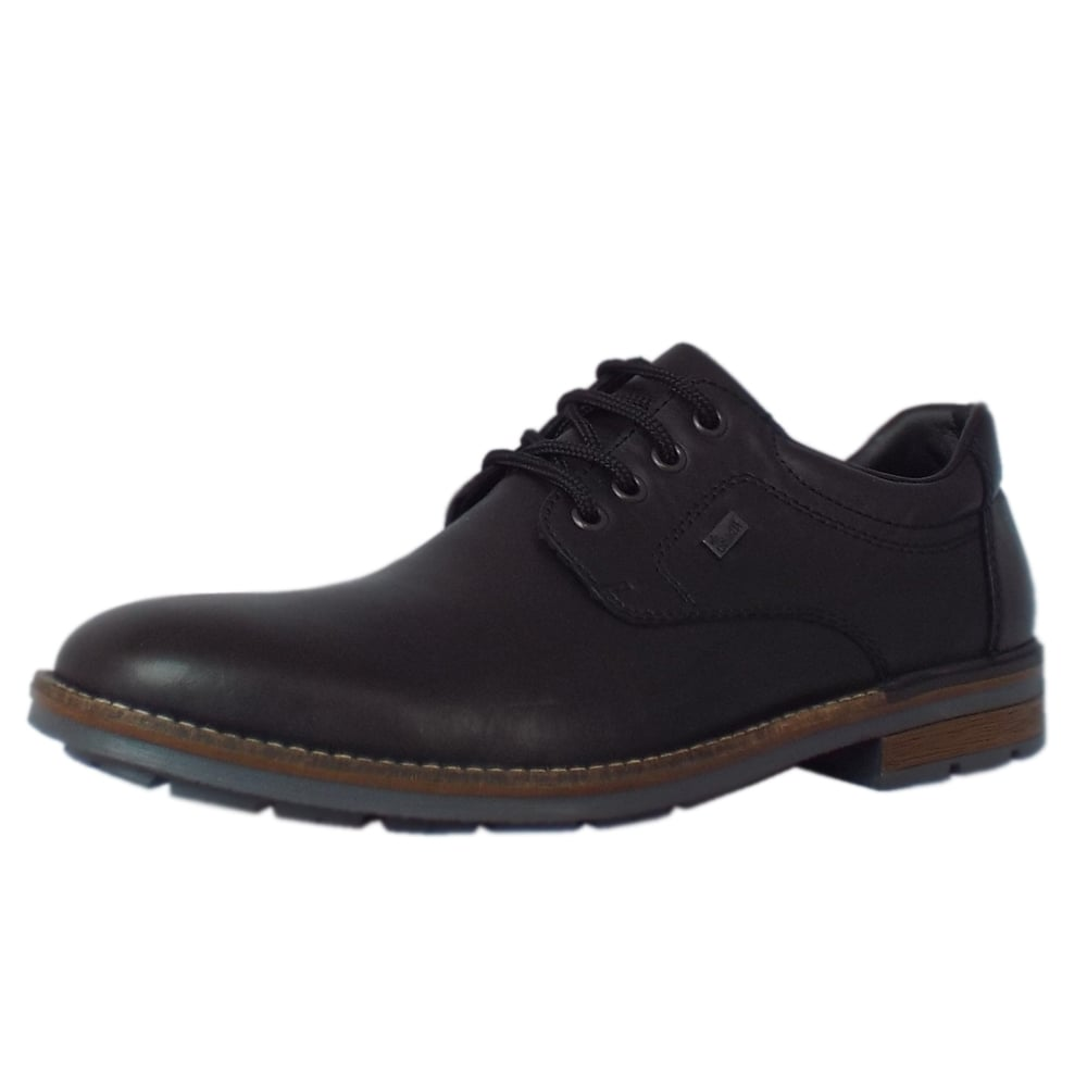 rieker shoes caddy mens lace up smart shoes black