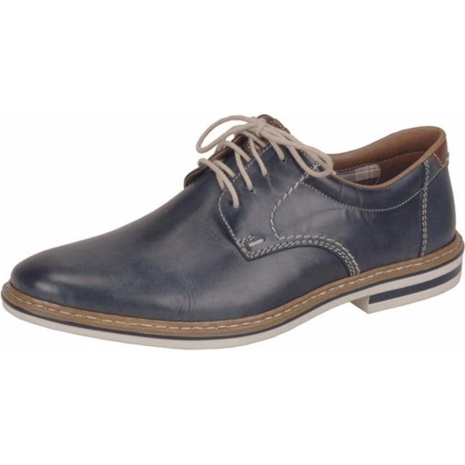 Rieker Carlo Men's Smart Casual Lace-Up Shoes in Navy