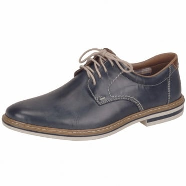 Carlo Men's Smart Casual Lace-Up Shoes in Navy