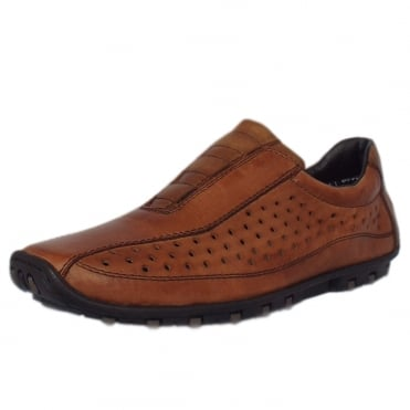 Ceasar Men's Casual Summer Slip On Shoes In Brandy
