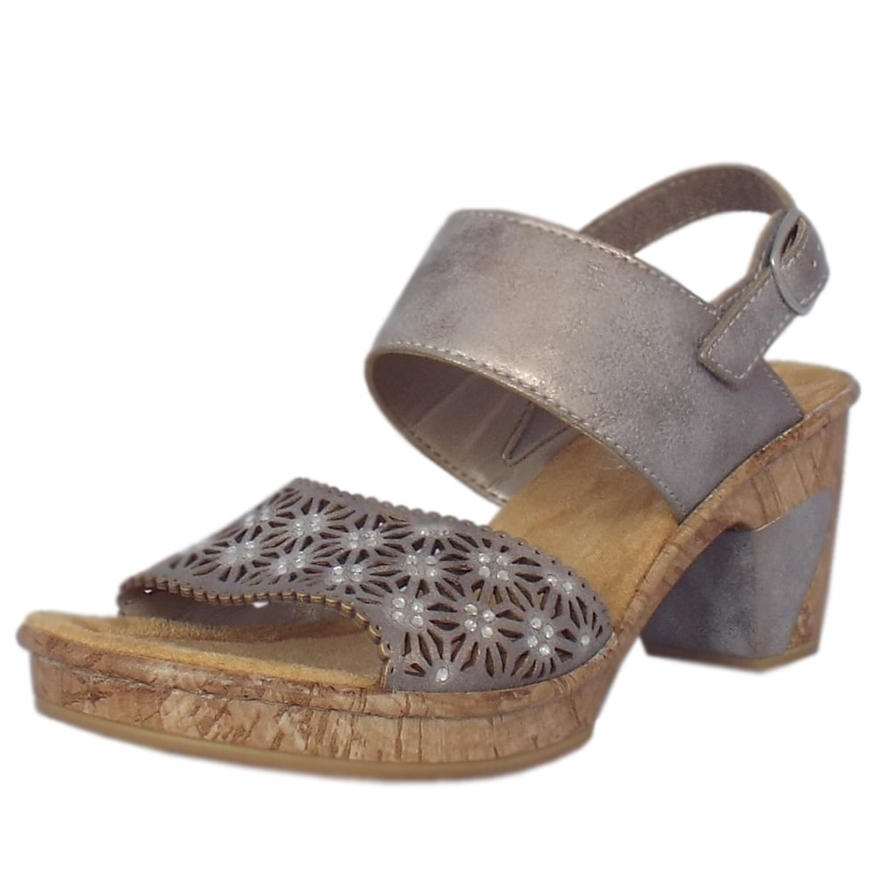 Rieker Charlie Smart Casual Fashion Sandals in Grey