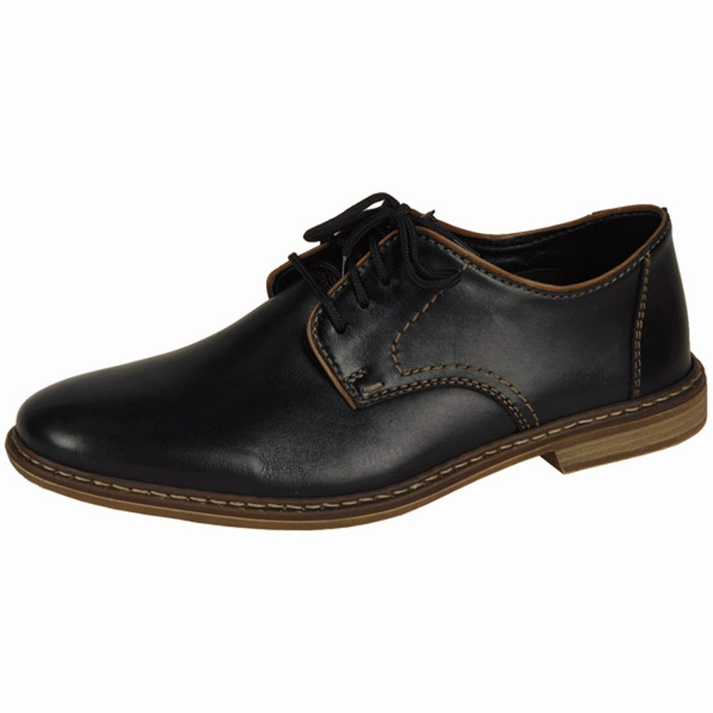 rieker shoes clarence mens lace up smart shoes in black