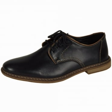 Clarence Mens Smart-Casual Shoe in Black Leather