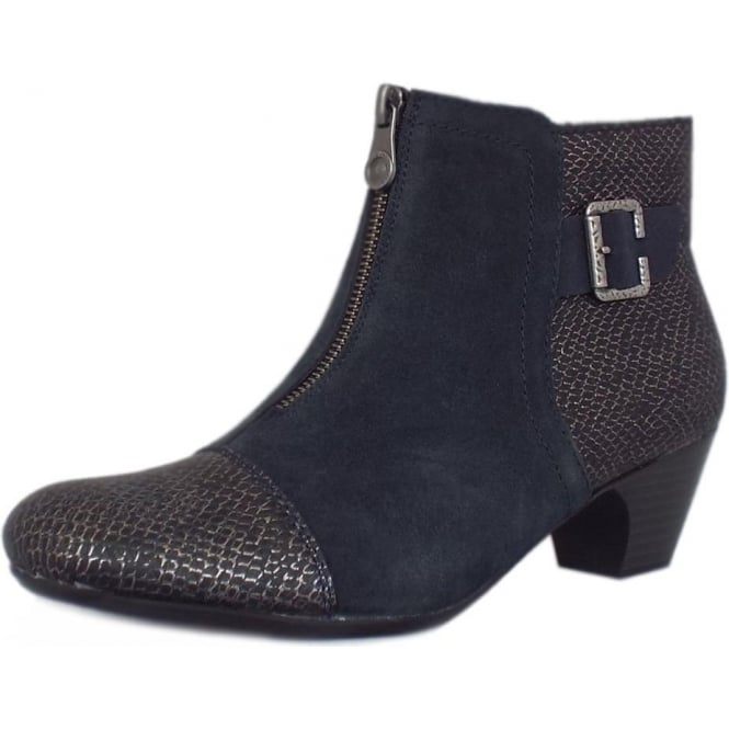 Cleveland Fashion Ankle Boots in Black Combination
