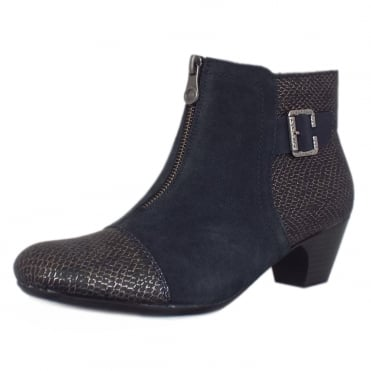 Rieker Cleveland Fashion Ankle Boots in Black Combination