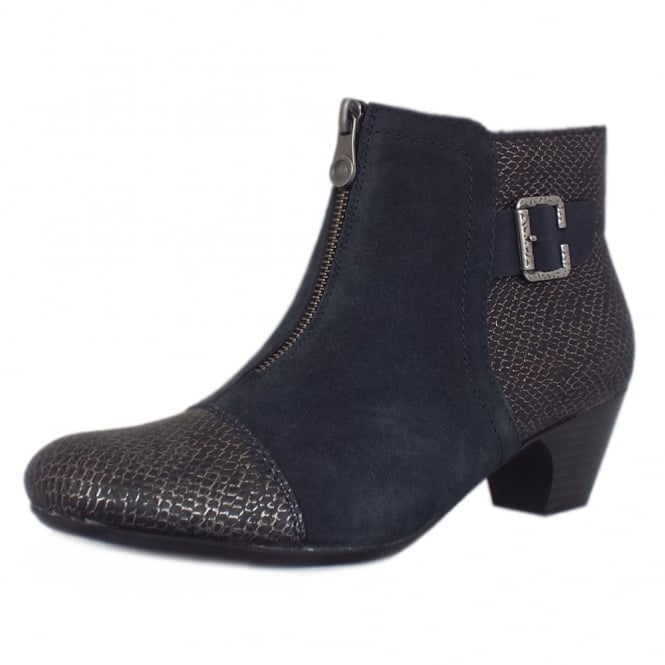 Rieker Cleveland Fashion Ankle Boots in Navy