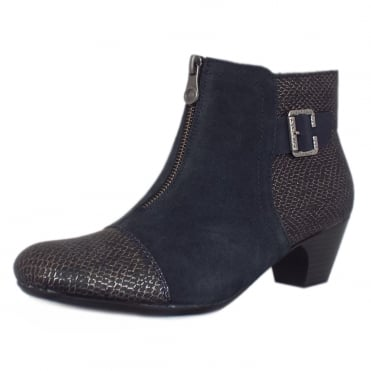 Cleveland Fashion Ankle Boots in Navy