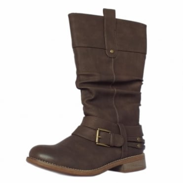 Rieker Dakota Fashion Slouchy Effect Mid-length Boots in Brown