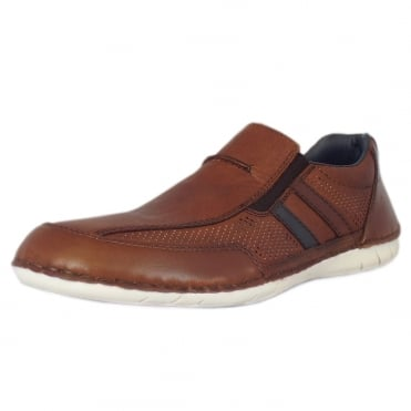 Figaro Men's Casual Summer Slip On Shoes In Brown