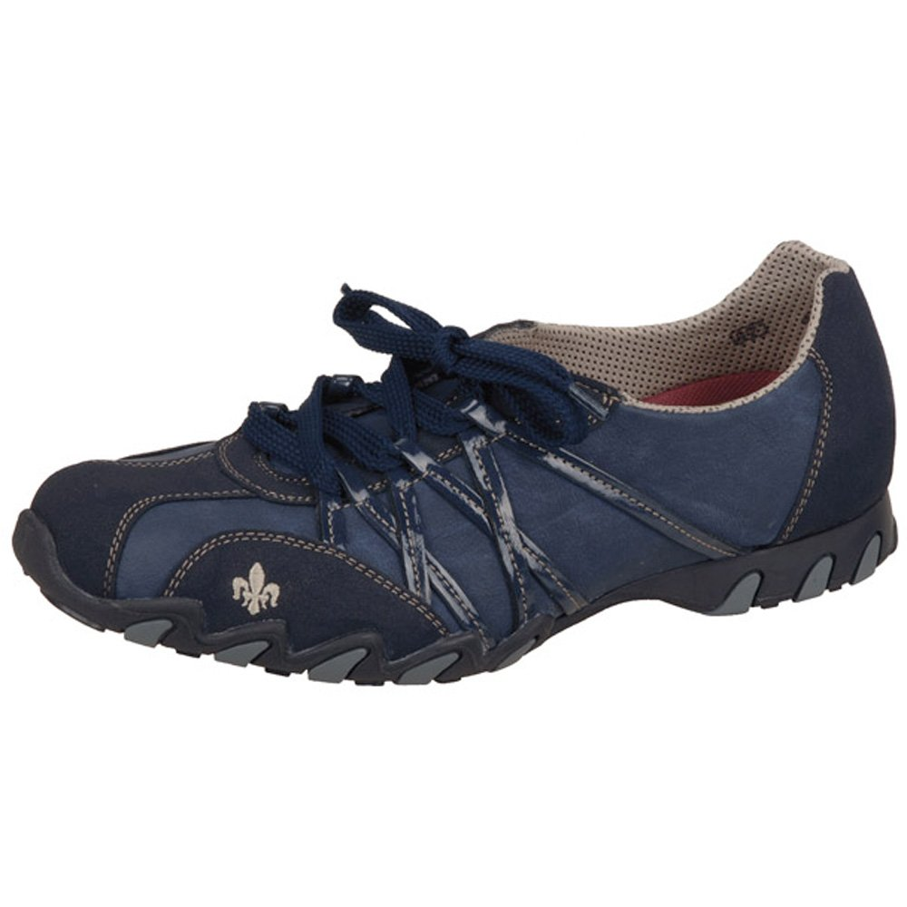 Fit Fast Women s Casual Lace-Up Trainer Shoes in Blue