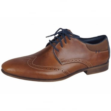 Frost Men's Smart Casual Brogues in Tan Leather