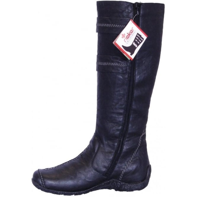 Rieker Astrid 79970 01 New Wool Lined Long Boots Mozimo