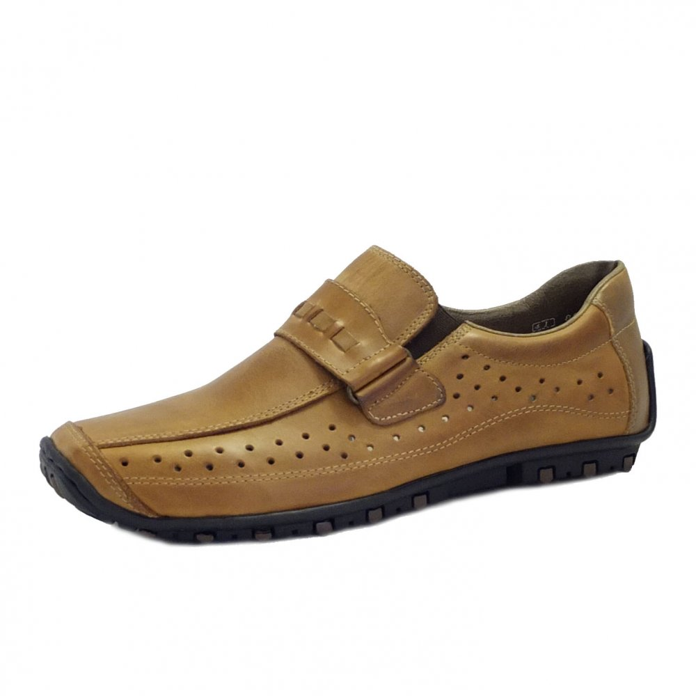 rieker shoes garrit mens brown leather slip on shoe mozimo