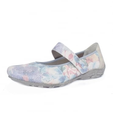 Gemma Women's Mary-Jane Multicolour Floral Summer Pumps