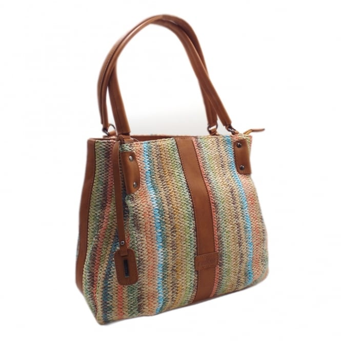 Rieker H1306-90 Susan Women's Fashion Handbag in Multi Colour